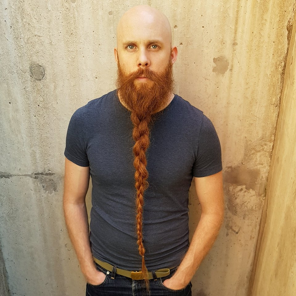 Long Braided Beard