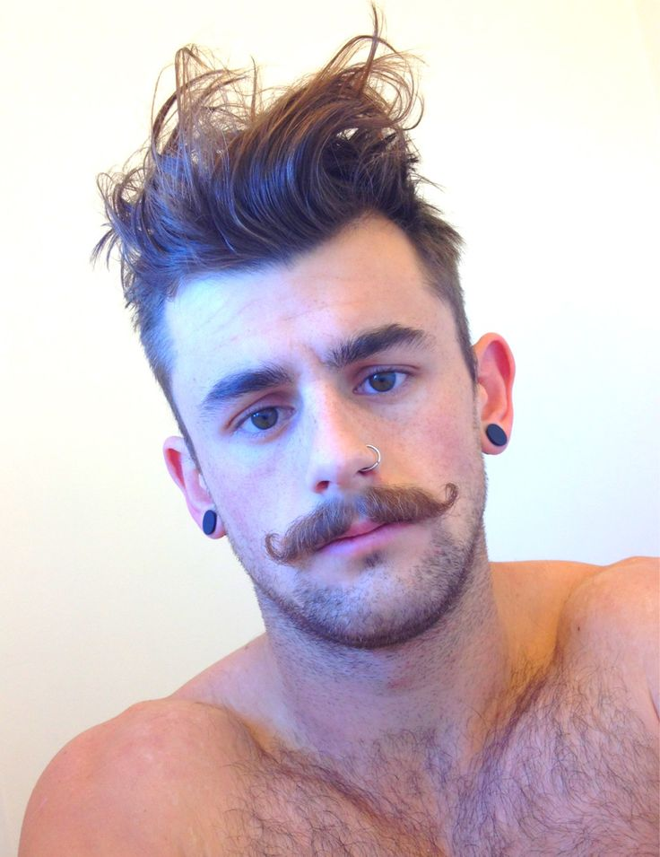 Hipster Moustache with Stubble
