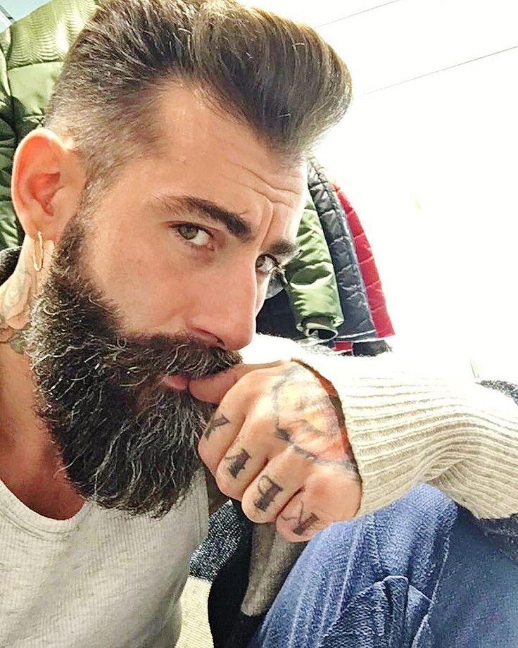 Hipster Moustache with Pompadour