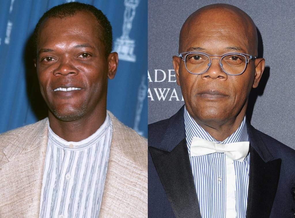 Samuel L. Jackson before hair after hair