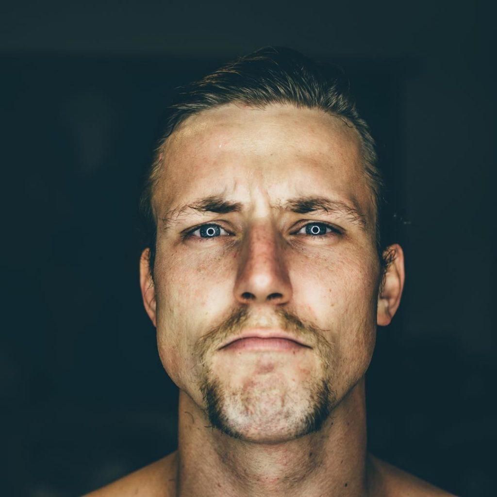 Clean Shaved Horse Shoe Moustache