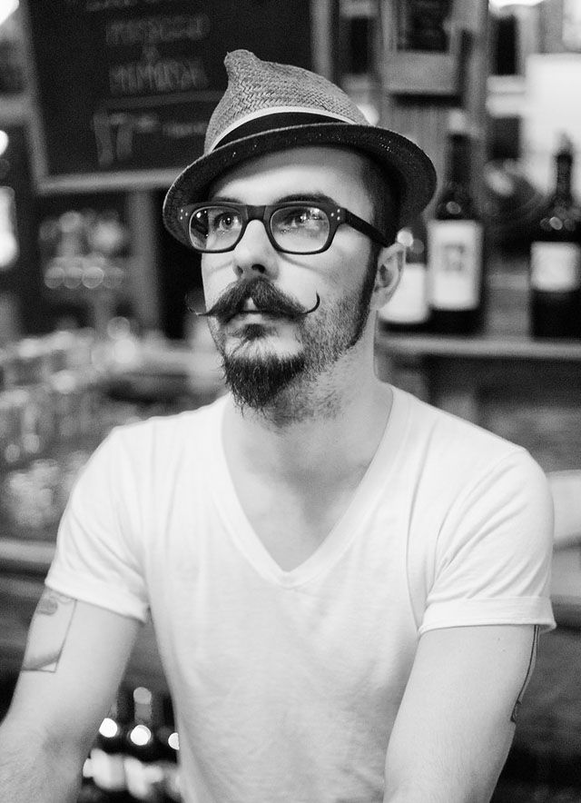 Hipster Moustache with Pointed Beard