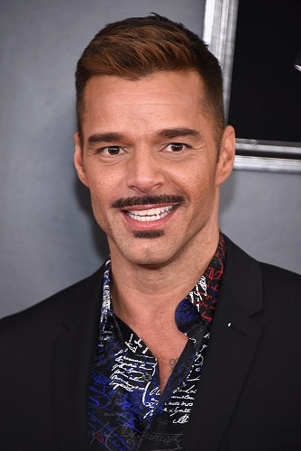 Pencil mustache with half a goatee