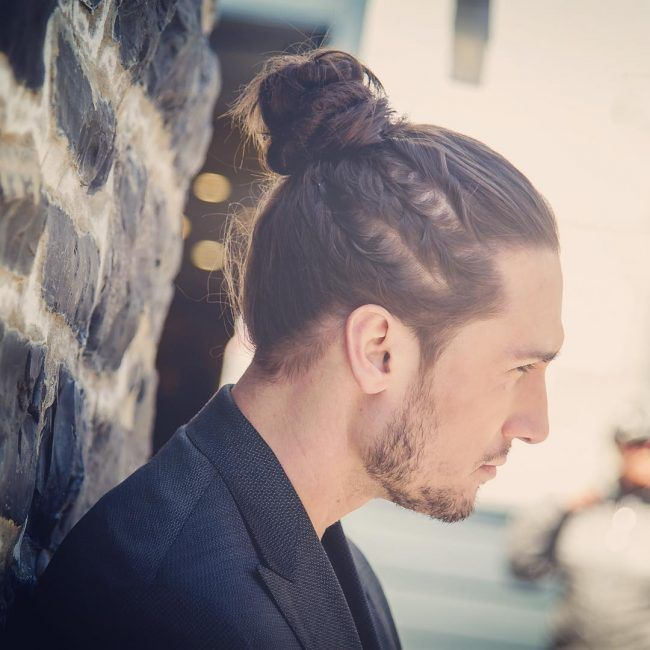 Side Braids with Manbun