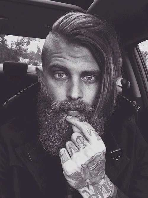 Half shaved Viking Hairstyles