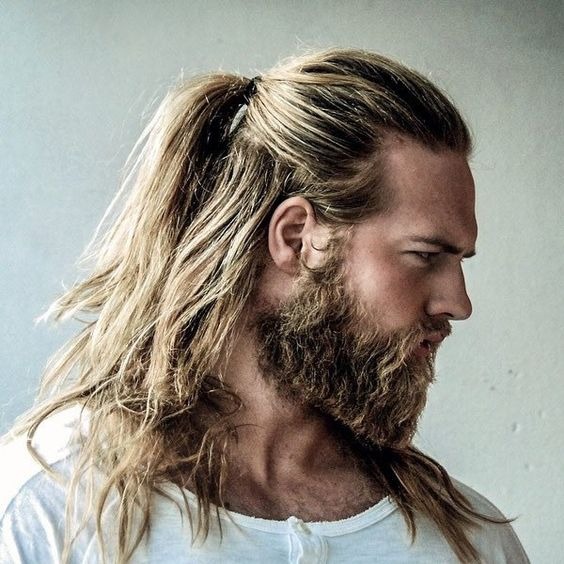 Half Up Viking Hairstyle