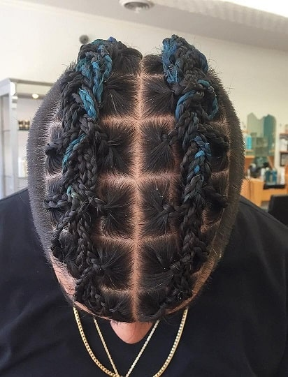 Box Braids With Middle Part