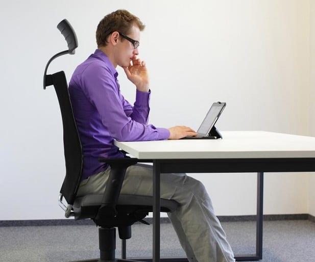 right sitting posture