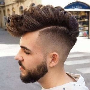 Thick Hair Faded Mohawk