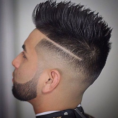 Faded Mohawk with Line