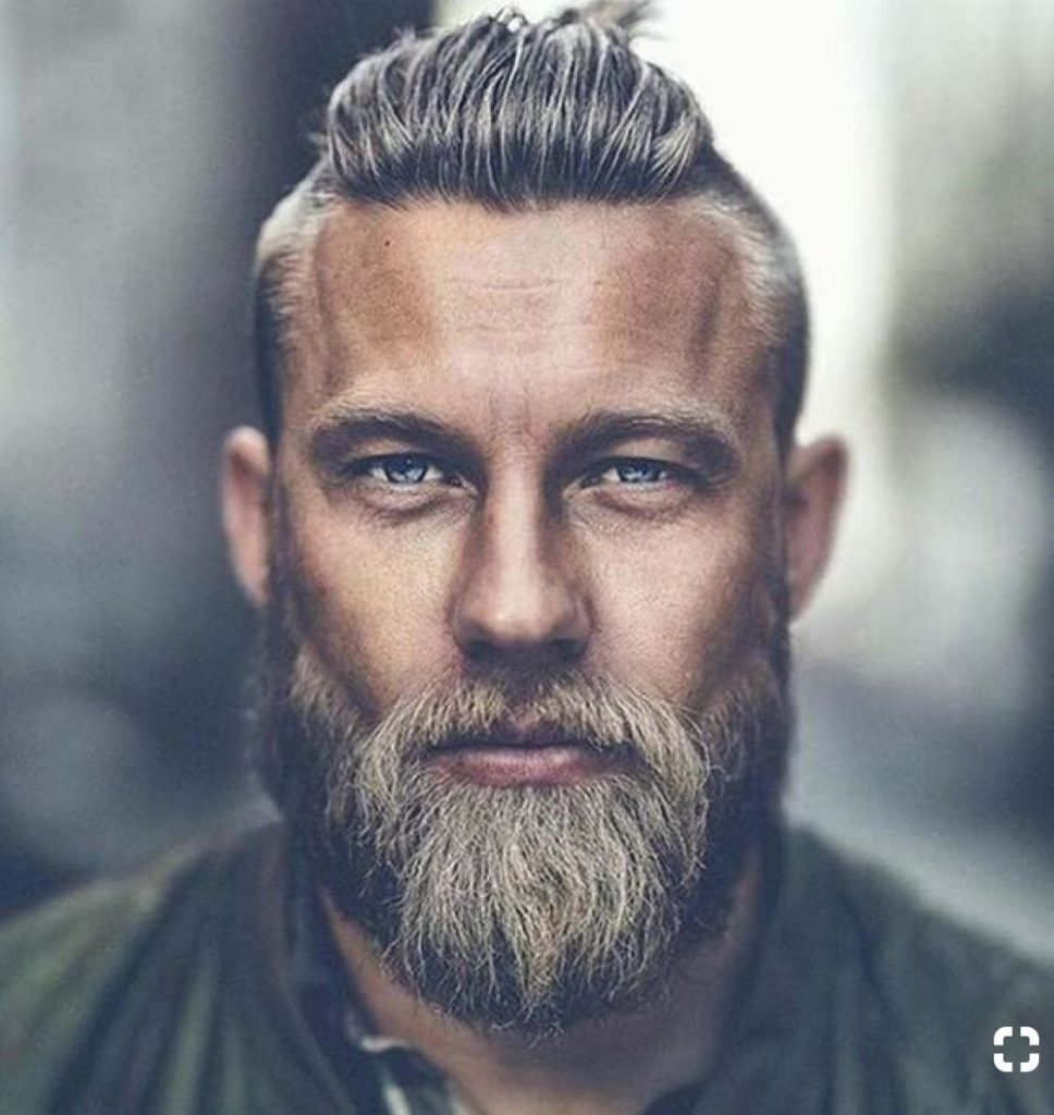 Mohawk Fade and Bearded Look