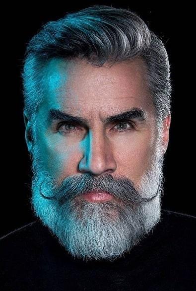 Handlebar Mustache and Full Beard