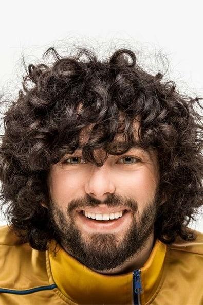 Medium Beard with Long Jheri Curls