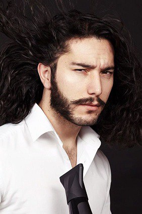 Mutton Chops With Long Hair