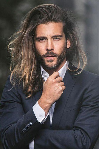 Ombre Hairstyle with a Beard