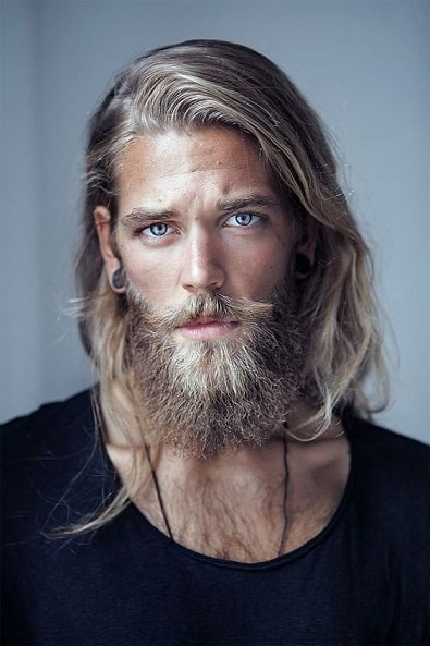 Wavy Long Hair With a Bushy Beard
