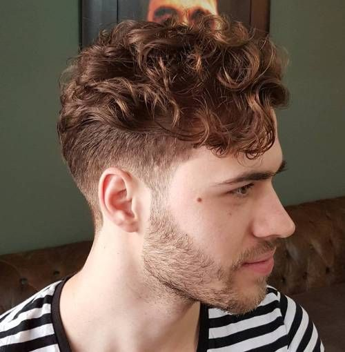 Under Cut Short Curly Hair