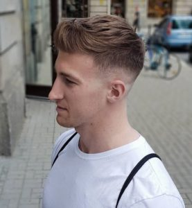 Quiff With Undercut Fade