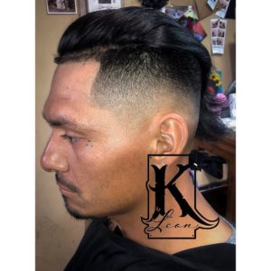 Drop Fade Side Swept Undercut