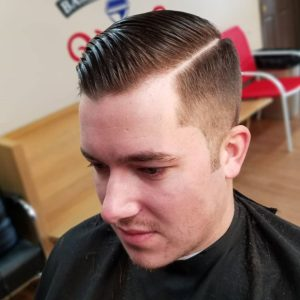 Crop Fade Undercut With Hard Part