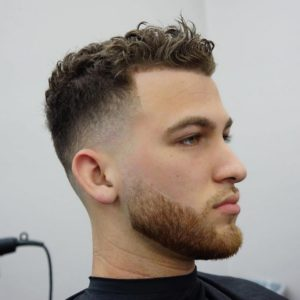 Clear Skin Fade Curly Hairstyle
