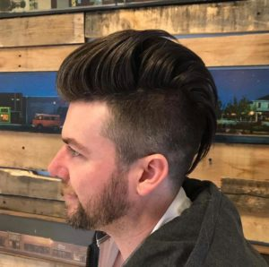 Undercut Fade with High Pomp