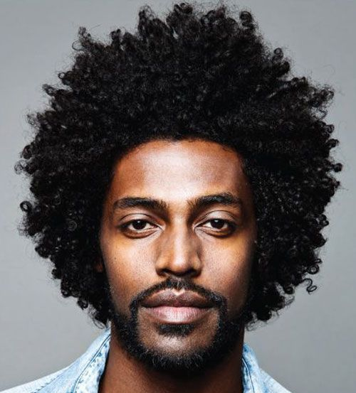 Vintage Full Grown Curly Afro Look