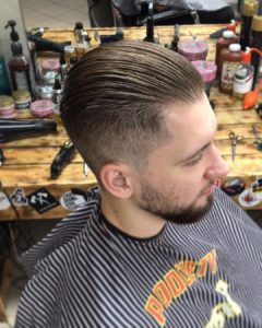 Undercut Fade with Long Slick