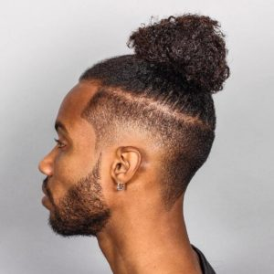 Man bun with an undercut