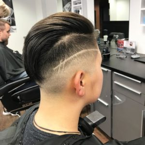 Slick Back Undercut With Hair Design