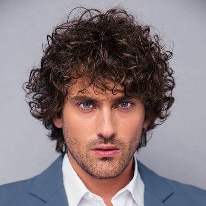 Chocolate Brown Shirt Curly Hair