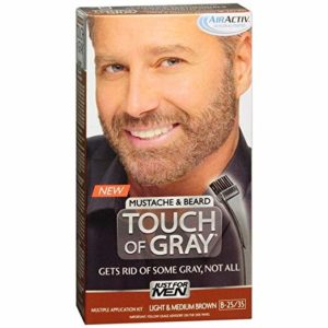 JUST FOR MEN Touch of Gray Hair Color, Mustache & Beard Kitb-25/35