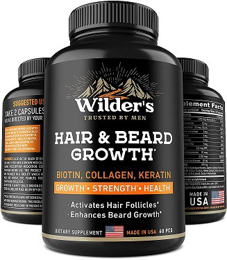 Wildre's hair and beard growth vitamins