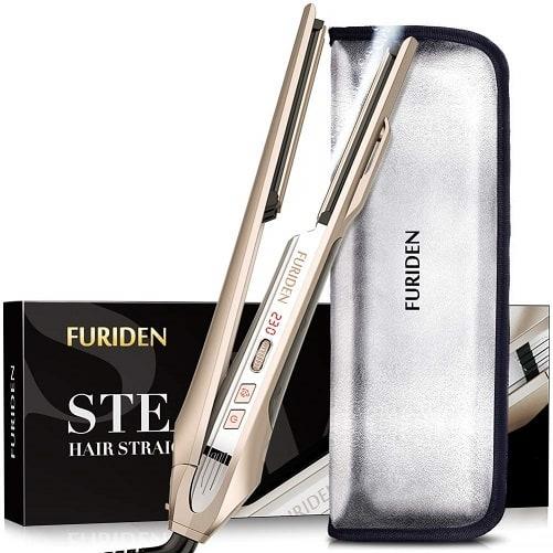 FURIDEN Steam Flat Iron Hair Straightener
