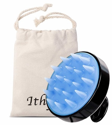 Ithyes Shampoo Brush Silicon Scalp Massager