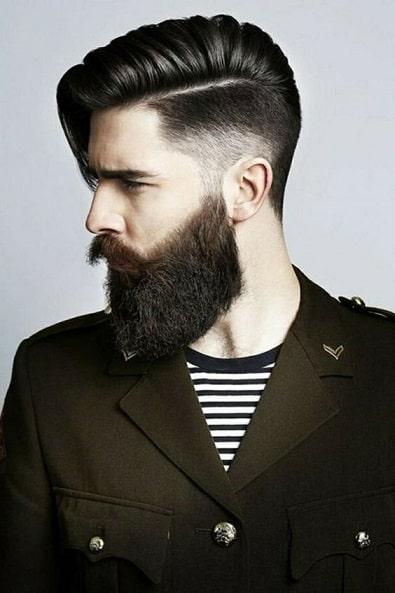 Carefree and Wild Beard Style
